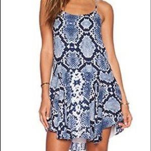 Eight Sixty Blue Snake skin dress